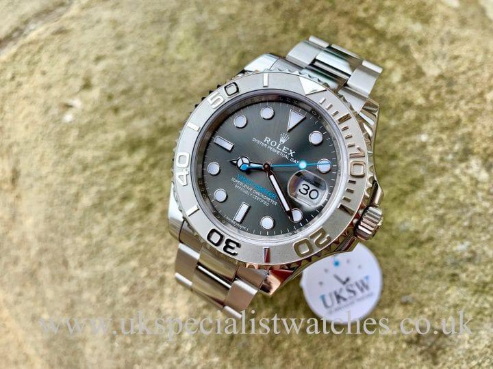 UK Specialist Watches have a Rolex Yacht-Master Rhodium Dial Platinum Bezel – Steel – 116622