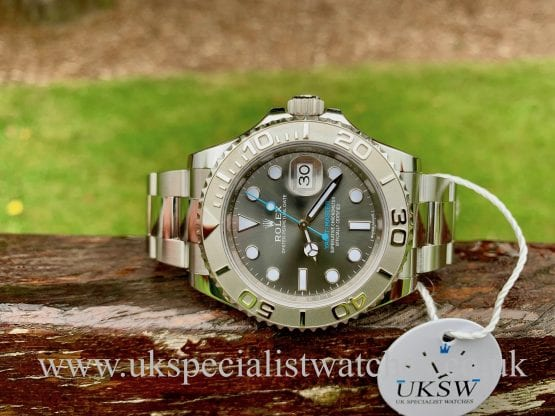 UK Specialist Watches have a Rolex Yacht-Master Rhodium Dial Platinum Bezel – Steel – 116622