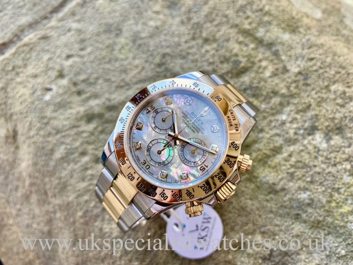 Rolex Daytona Steel & 18ct Gold - Diamond MOP Dial - 116523