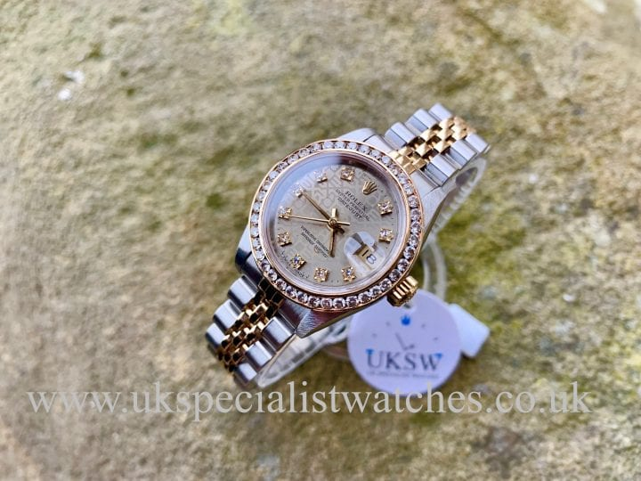 ROLEX LADY DATEJUST – STEEL & 18CT GOLD – DIAMOND SET – 69173
