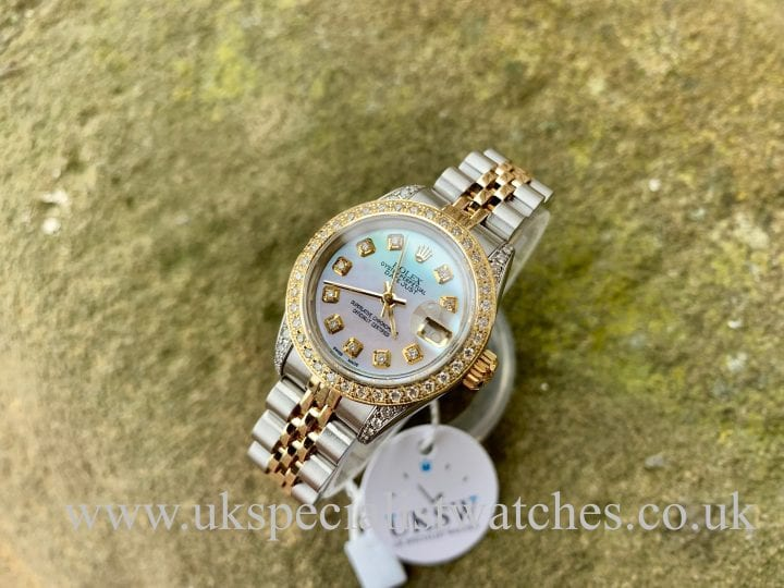 ROLEX LADY DATEJUST – STEEL & 18CT GOLD – DIAMOND SET – 69173