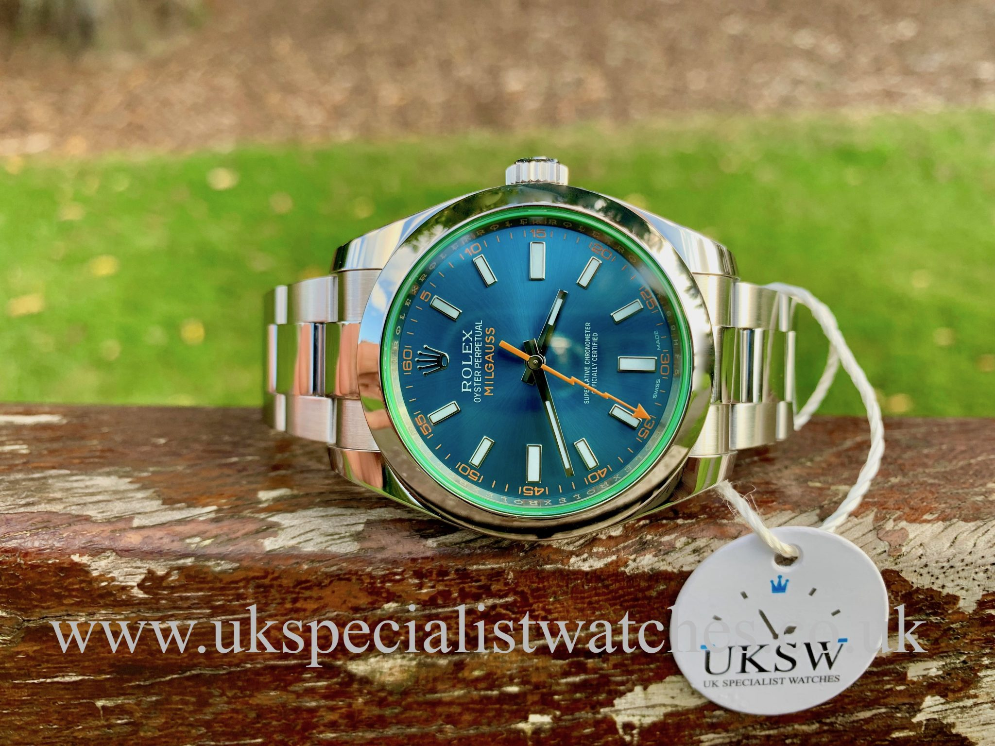 ROLEX MILGAUSS – STEEL - GREEN GLASS – 40MM – 116400GV
