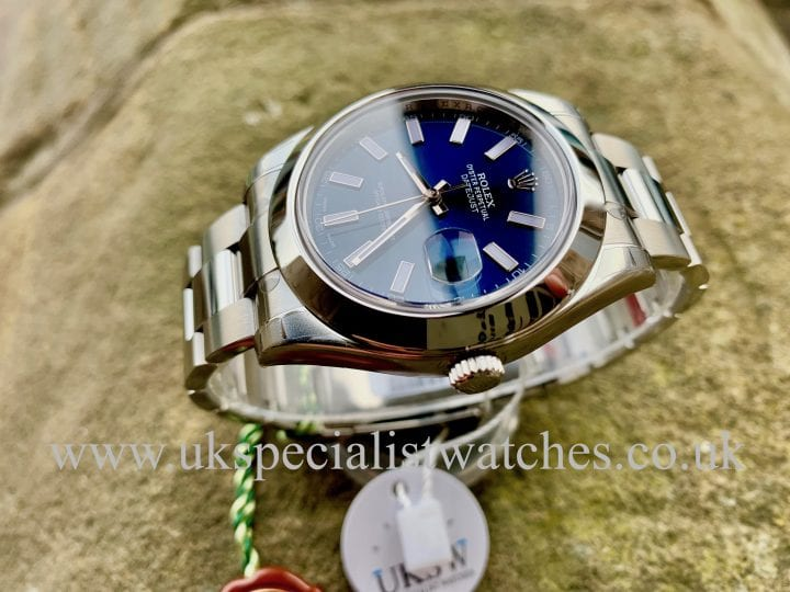ROLEX DATEJUST STEEL 41MM – TARRATTS LTD EDITON – 116300 – NOS