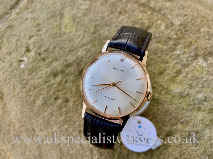 ROLEX PRECISION DRESS WATCH – 9CT GOLD – VINTAGE 1958