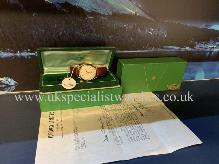 ROLEX PRECISION ARABIC DIAL – 9K GOLD – VINTAGE 1959
