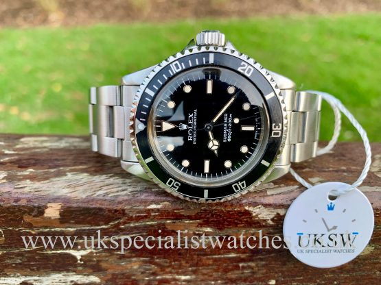 ROLEX SUBMARINER 5513 – CORNINO – FULL SET – VINTAGE 1963