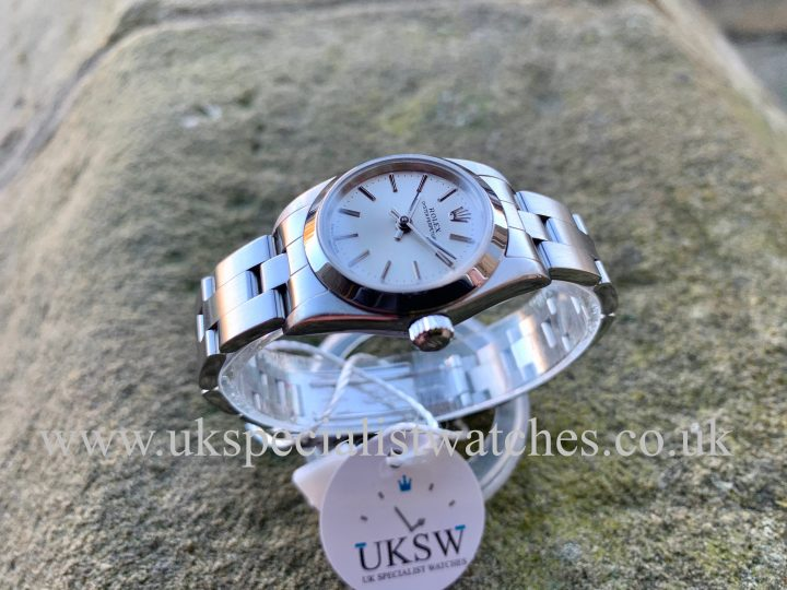 ROLEX LADIES OYSTER PERPETUAL – STAINLESS STEEL – 76080