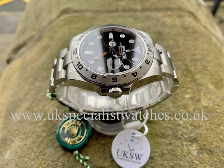 ROLEX EXPLORER II BLACK – STAINLESS STEEL – 216570 - NEW UNWORN