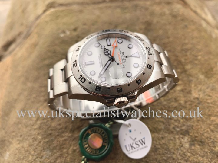 ROLEX EXPLORER II WHITE – STAINLESS STEEL – 216570 – NEW UNWORN