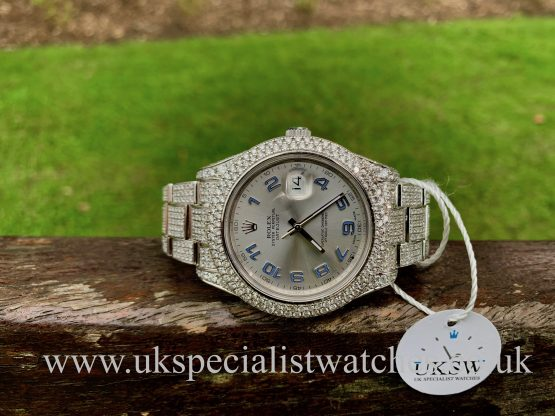 ROLEX DATEJUST STEEL 41MM – DIAMOND SET – 116300