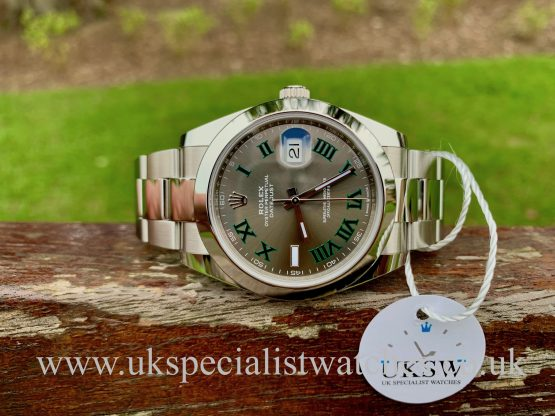 ROLEX DATEJUST II STEEL – 41MM – WIMBLEDON DIAL – 126334 – NEW / UNUSED