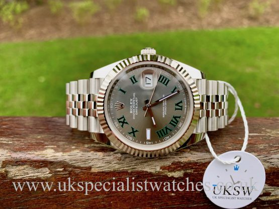 ROLEX DATEJUST II STEEL – 41M – WIMBLEDON DIAL – 126334 – NEW / UNUSED