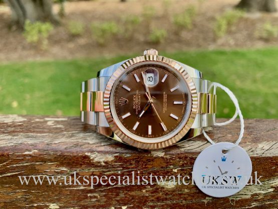 Rolex Datejust 41mm Steel & 18ct Rose Gold - Chocolate Dial - 126331