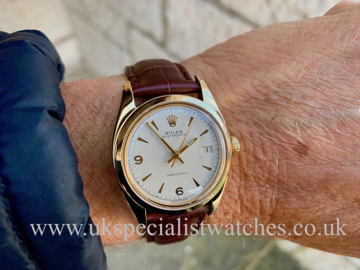 ROLEX OYSTERDATE 6494 - GOLD – VINTAGE 1956