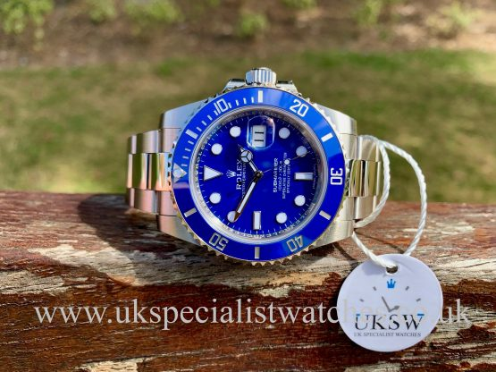 Rolex Submariner 18ct White Gold – Smurf Dial – 116619LB – 2020