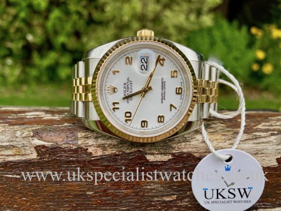 ROLEX DATEJUST GENTS – STEEL & 18CT YELLOW GOLD – 116233