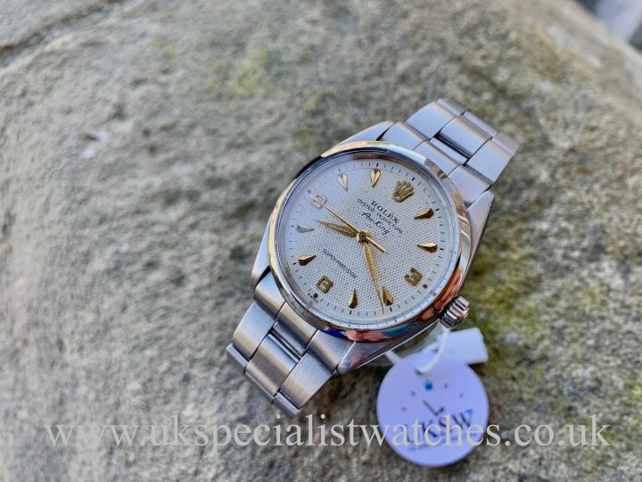 UK Specialist Watches have a Rolex 5500 Air-King - Stainless Steel - 3 6 9 Waffle Dial - Vintage 1963