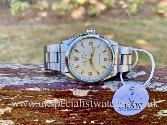 Rolex 5500 Air-King - Stainless Steel - 3 6 9 Waffle Dial - Vintage 1963
