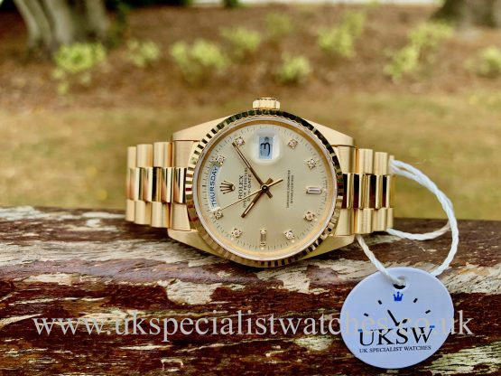 Rolex Day-Date 18238 – 18ct Yellow Gold – Vintage 1989 – N.O.S