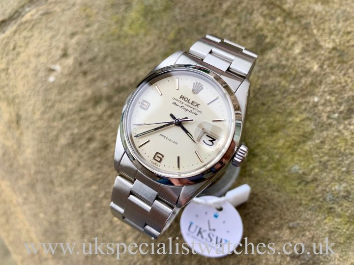 www.ukspecialistwatches.co.ukROLEX 5700 AIR-KING DATE – STEEL – VINTAGE 1966 - FULL SET