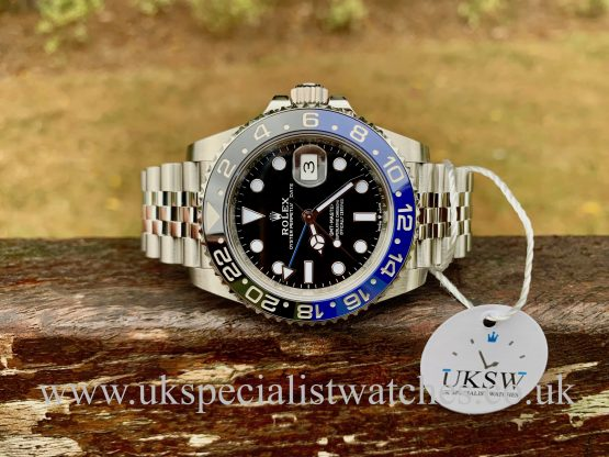 "UK Specialist Watches have a GMT-Master II Steel - ""BatGirl"" - 126170BLNR - UNWORN 2020"