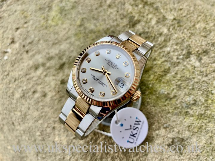Rolex Datejust Midsize - 31mm- Silver Diamond Dial - 178273