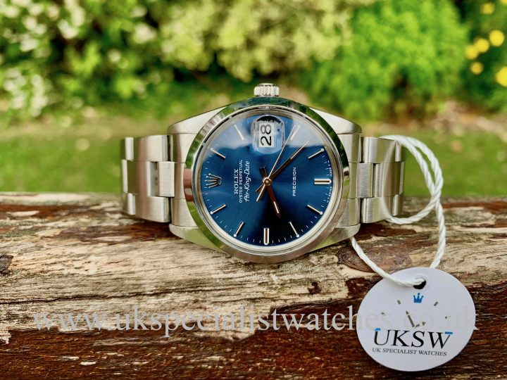 Rolex Air-king Date 5700 – Stainless Steel – Blue Dial - Vintage 1988