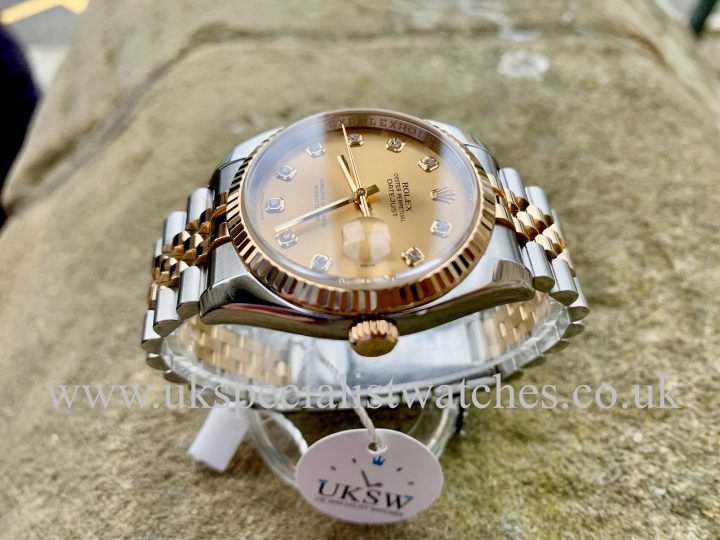 UK Specialist Watches have a ROLEX DATEJUST GENTS – 36MM – DIAMOND DIAL – 116233