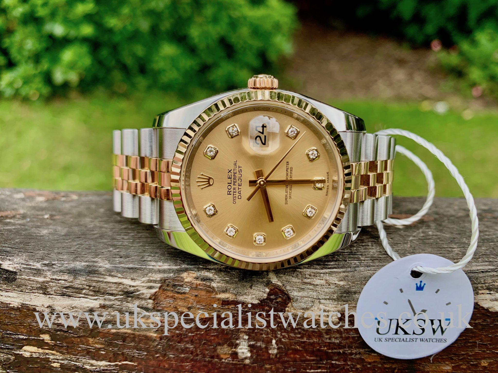ROLEX DATEJUST GENTS – 36MM – DIAMOND DIAL – 116233