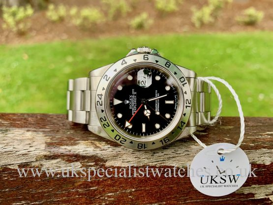 UK Specialist Watches have a final edition Rolex Explorer II Tritium dial full set 1998
