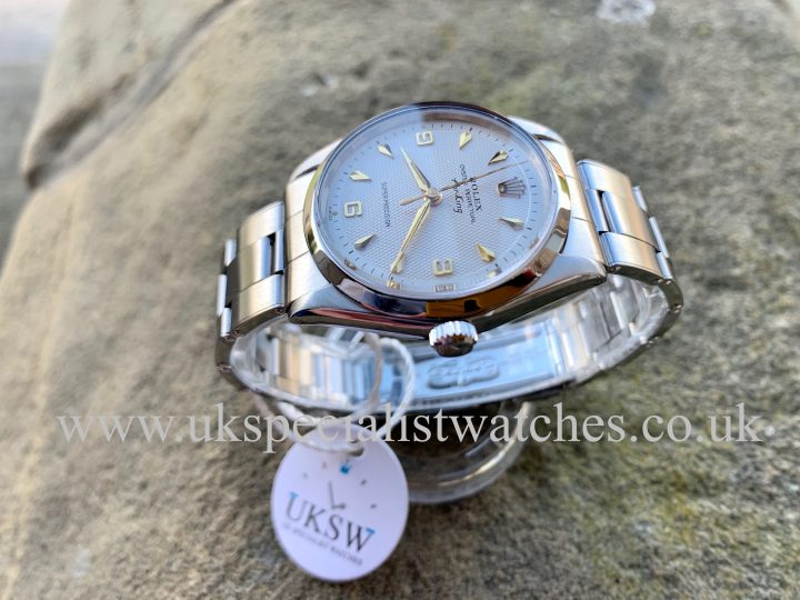 ROLEX 5500 AIR-KING – STAINLESS STEEL – 3 6 9 WAFFLE DIAL – VINTAGE 1963