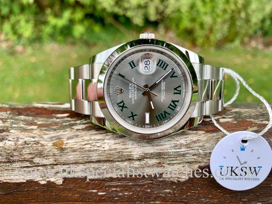 ROLEX DATEJUST II STEEL – 41MM – WIMBLEDON DIAL – 126300 – NEW / UNUSED