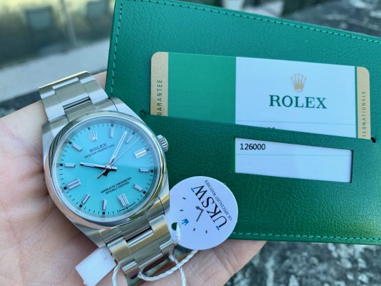 "ROLEX OYSTER PERPETUAL - 36MM ""TIFFANY BLUE"" - NEW 2020 126000"