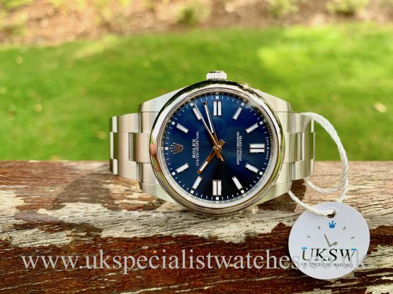 ROLEX OYSTER PERPETUAL 41MM – BLUE DIAL – NEW 2020 124300