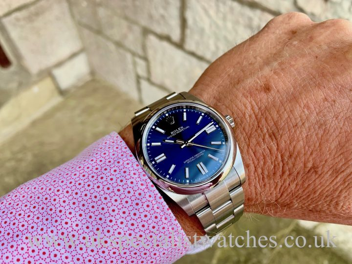 2020 ROLEX OYSTER PERPETUAL 41MM blue -