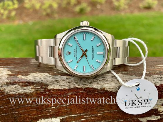 "ROLEX OYSTER PERPETUAL 31MM MIDSIZE ""TIFFANY"" BLUE – 277200 NEW 2020"