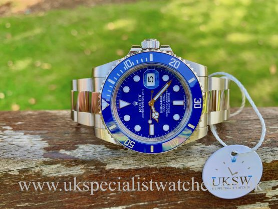 Rolex Submariner 18ct White Gold - Smurf Dial - 116619LB - 2020