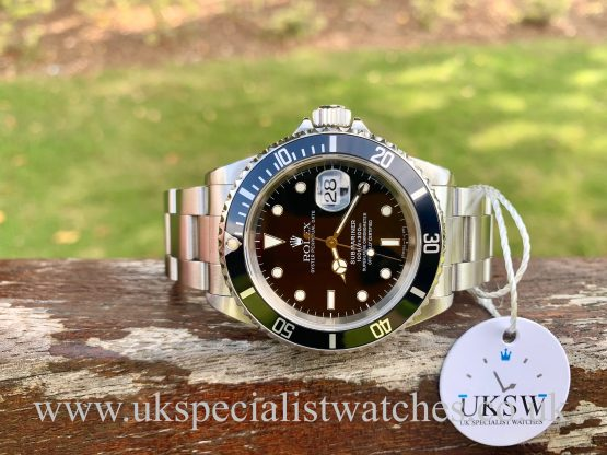 UK Specialist Watches have a ROLEX SUBMARINER DATE - 16610 - SWISS T25 DIAL - FULL SET 1998