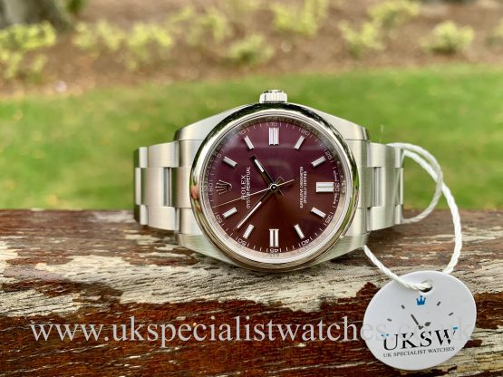 Rolex Oyster Perpetual Red Grape dial