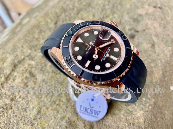 Rolex Yacht-master oysterflex rose gold