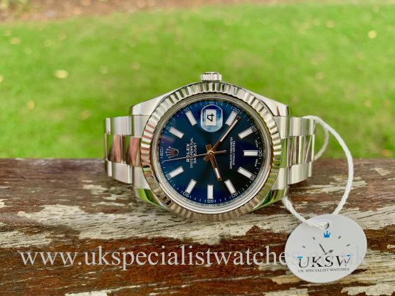 ROLEX DATEJUST II STAINLESS STEEL – BLUE DIAL – 116334