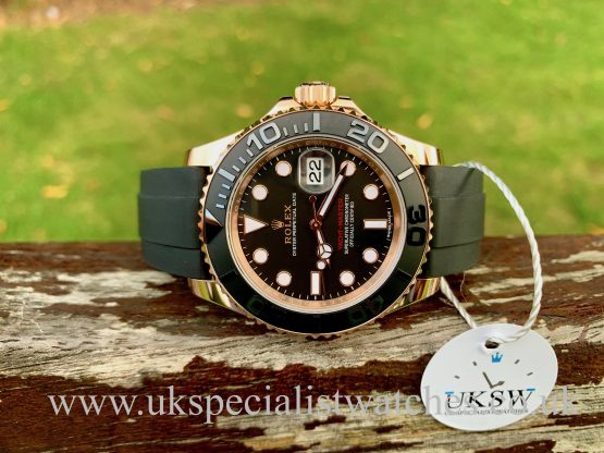 Rolex Yacht-Master Oysterflex 40mm – 18ct Everose Gold – 116655