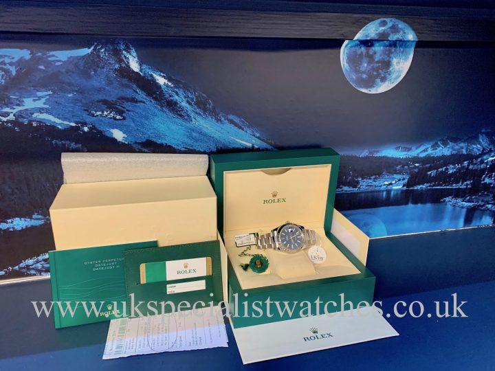 Blue dial Rolex Datejust 41