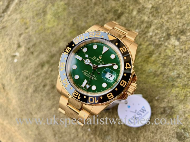 Green Dial Rolex GMT-Master 18ct Yellow Gold