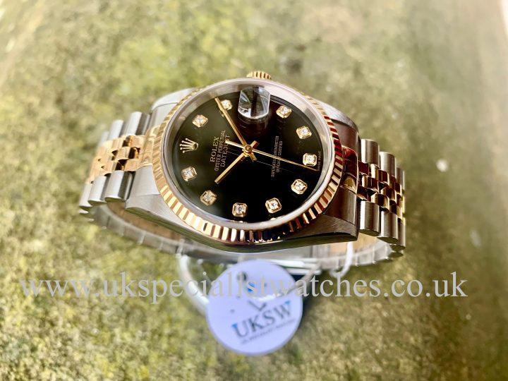 Rolex Datejust black diamond dial