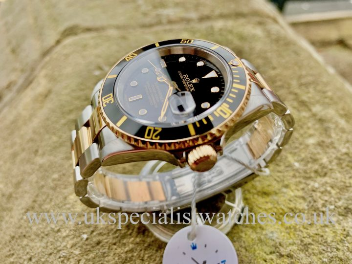 ROLEX SUBMARINER DATE BLACK DIAL – STEEL & GOLD – 16613