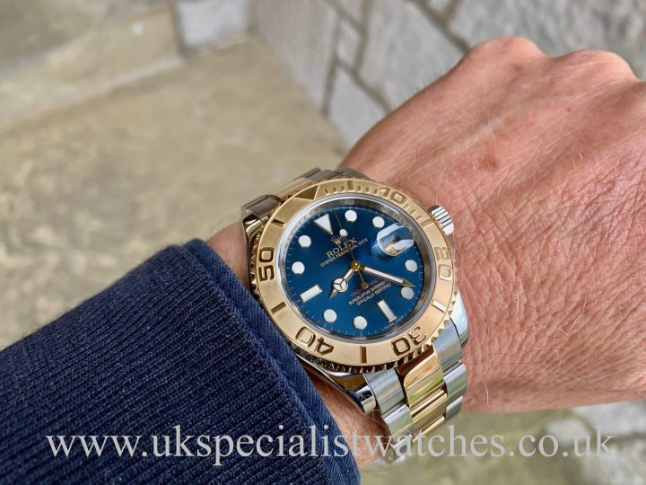 Rolex Yacht-Master Steel & 18ct Yellow Gold – Blue Dial – 16623