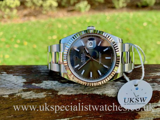 ROLEX DATEJUST 41MM – STEEL – RHODIUM DIAL – 126334 UNWORN