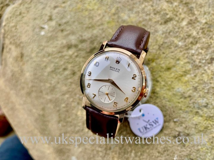 ROLEX PRECISION DRESS WATCH – 9CT GOLD – VINTAGE 1960