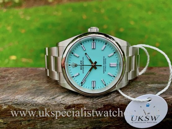 "ROLEX OYSTER PERPETUAL – 36MM ""TIFFANY"" – NEW 2020 126000"
